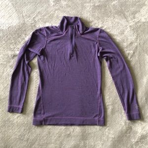Smartwool Long-Sleeve 1/4-Zip Purple Shirt Small